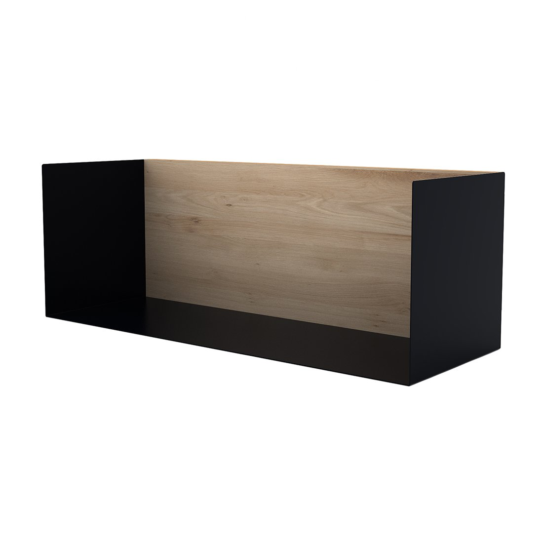 Ethnicraft U-Shelf Wandplank Zwart Medium