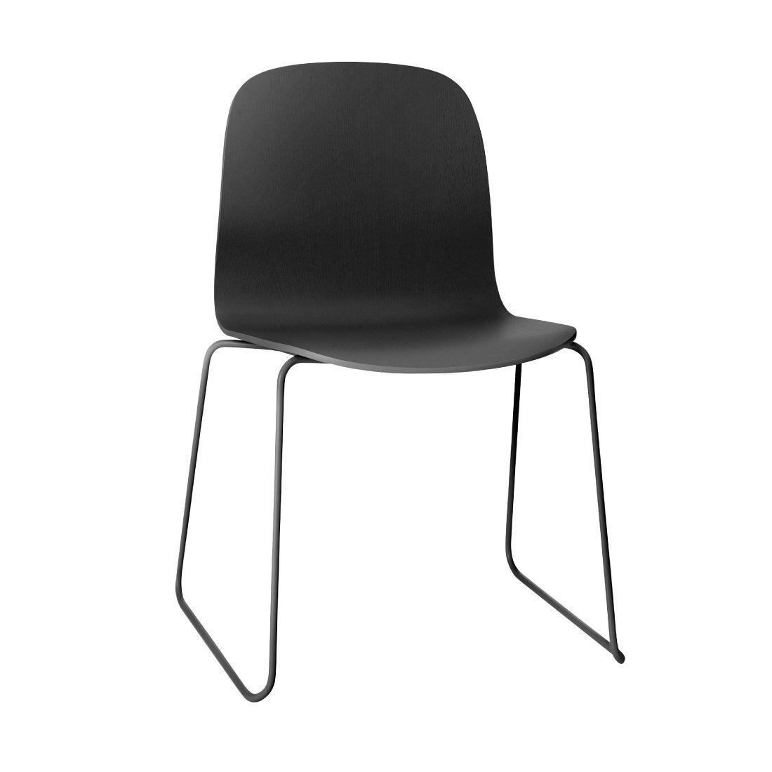 Muuto Visu Chair Sledebasis Zwart
