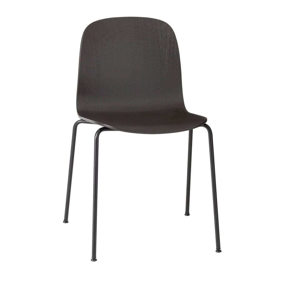 Muuto Visu Chair Stalen Poten Zwart