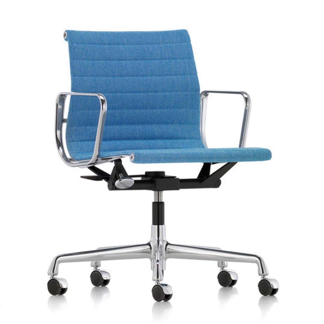 Vitra Aluminium Chair EA 117 Bureaustoel - Hopsack 83 Blauw/ivoor