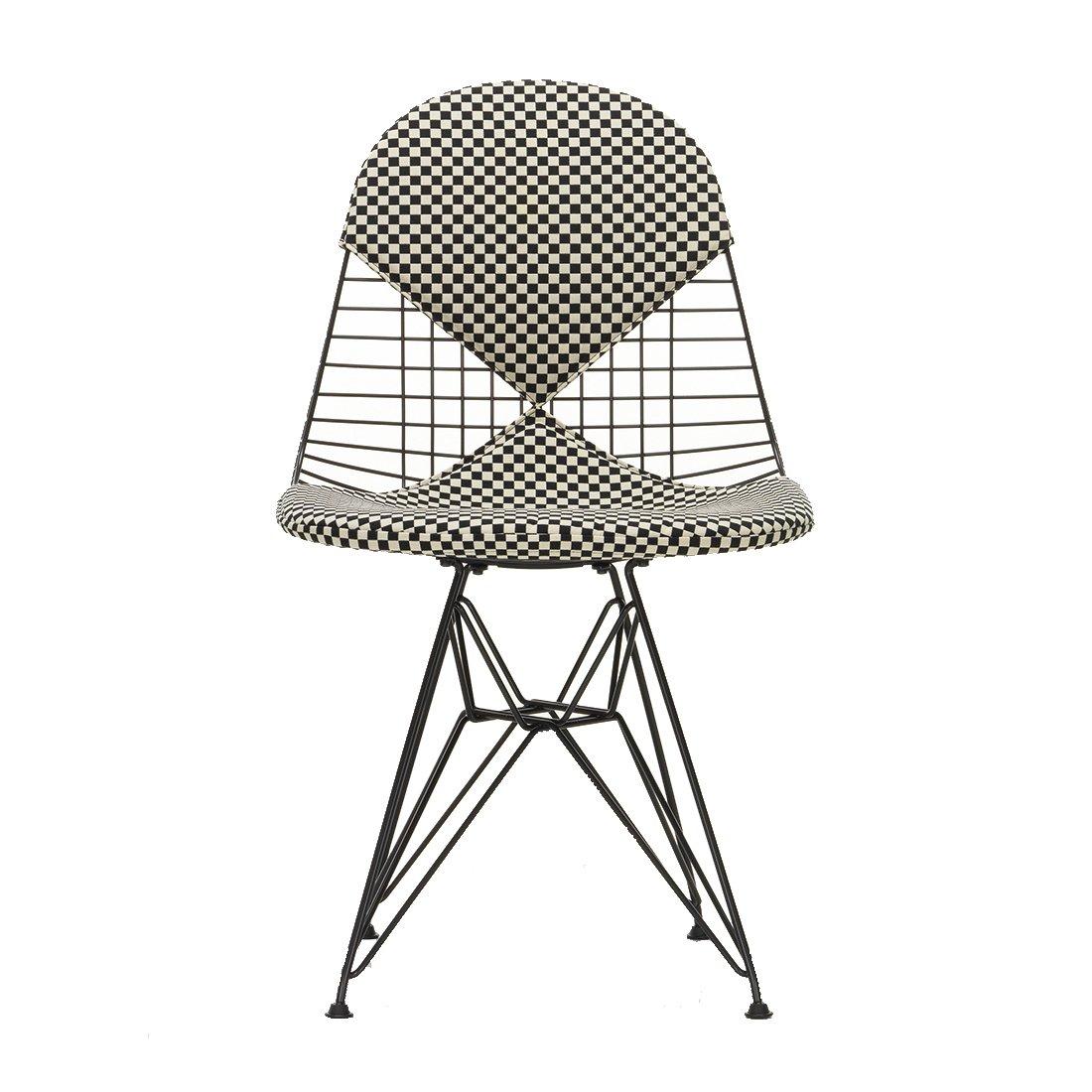 Vitra Wire Chair DKR-2 - Basic Dark/Checkers