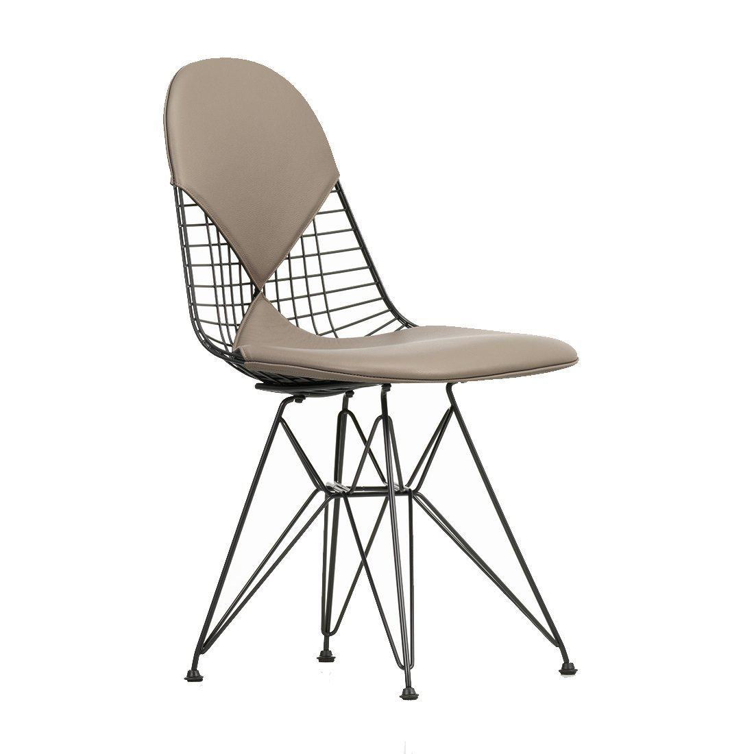 Vitra Wire Chair DKR-2 - Leder Zand/Plano Coffee