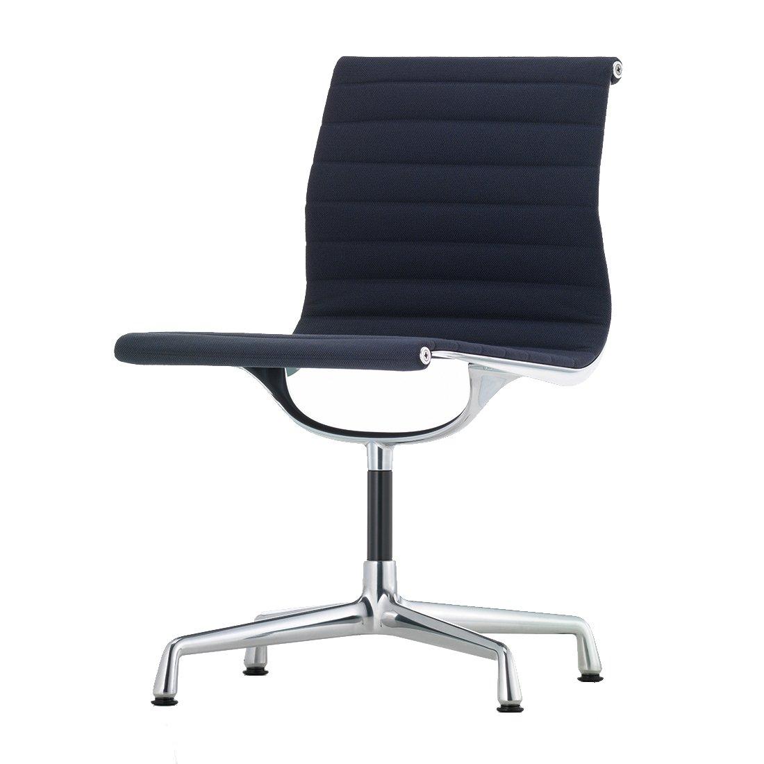 Vitra Aluminium Chair EA 101 - Hopsak Donkerblauw/Veenbruin