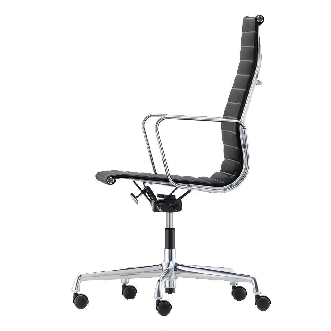 Vitra Aluminium Chair EA 119 Bureaustoel Leder Nero