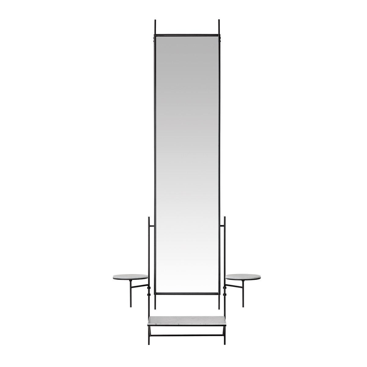 Fritz Hansen Wall Mirror Spiegel - White Carrara Marble