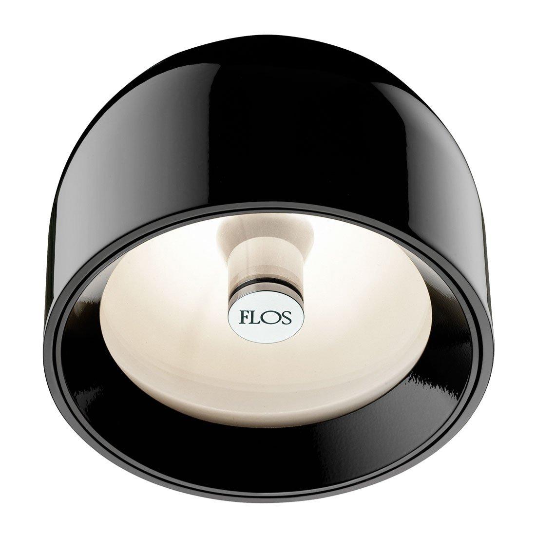 FLOS Wan Wand en Plafondlamp Zwart