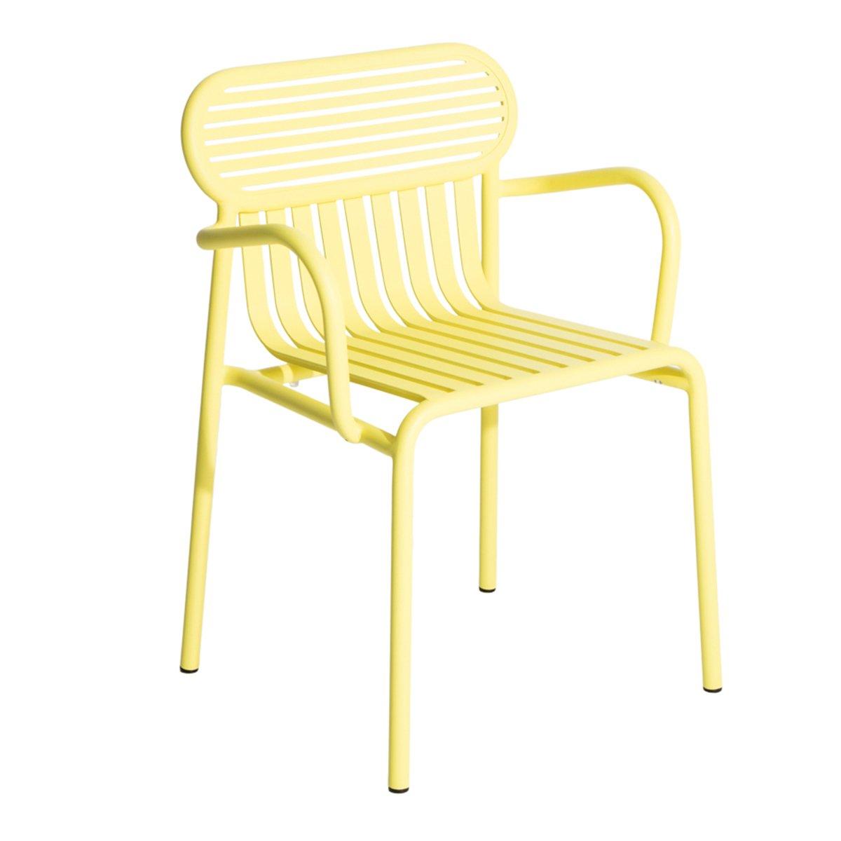 Petite Friture Week-end Stoel Met Armleuning - Yellow
