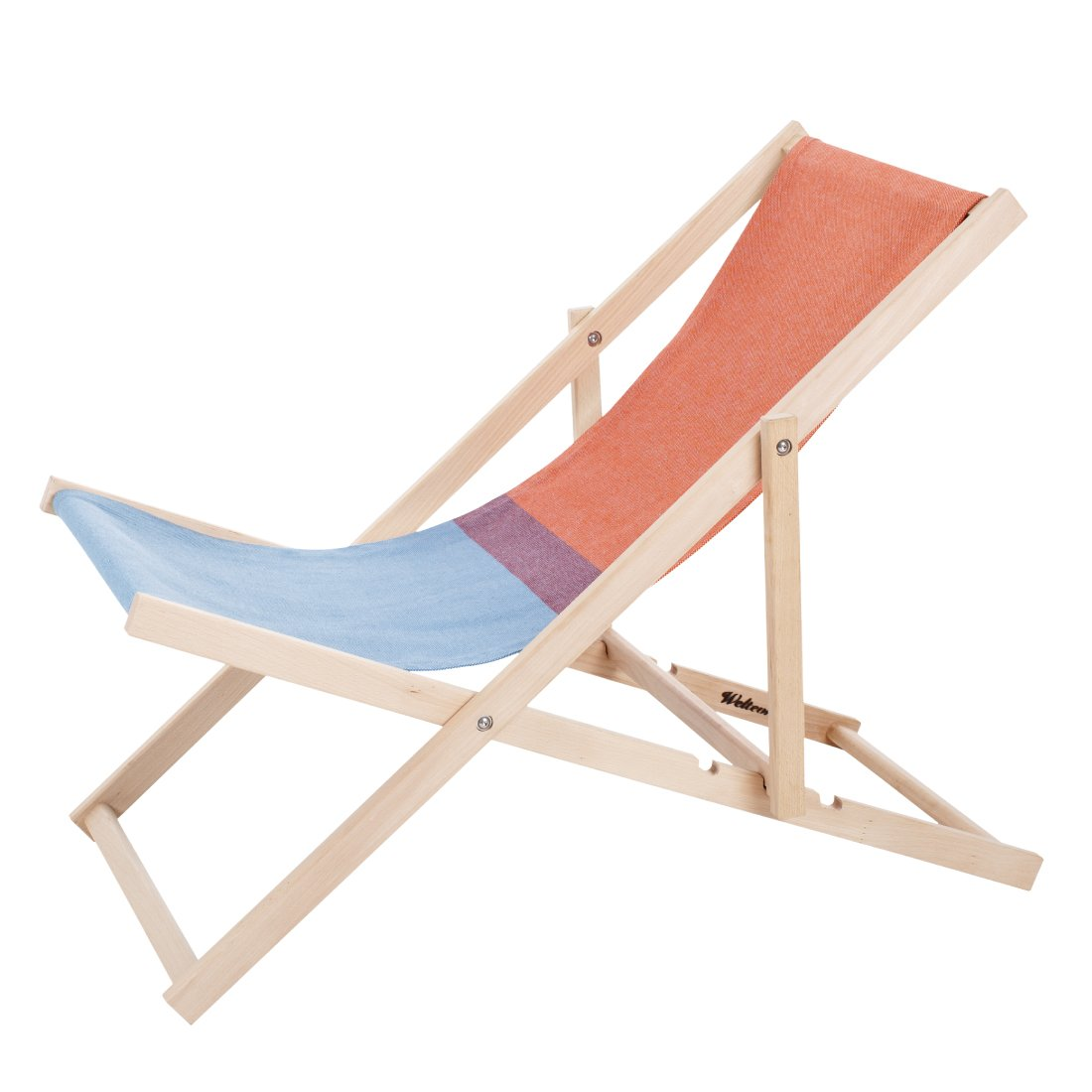 Weltevree Beach Chair Strandstoel Rood/Blauw