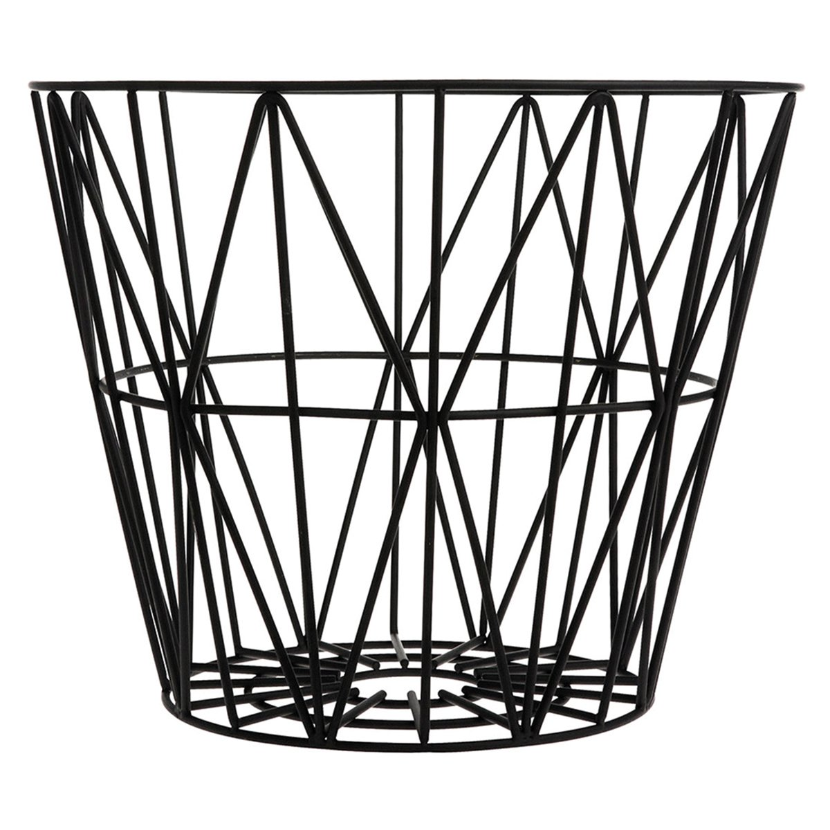 Ferm Living Wire Basket M Zwart