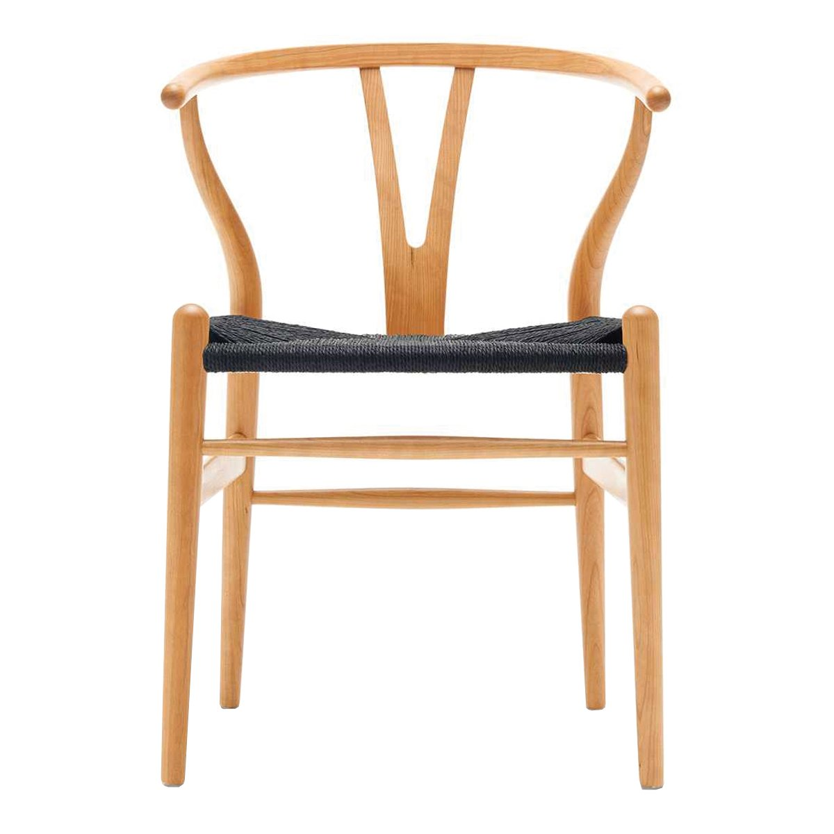 Carl Hansen Wishbone Chair Kersen Geolied - Zwart
