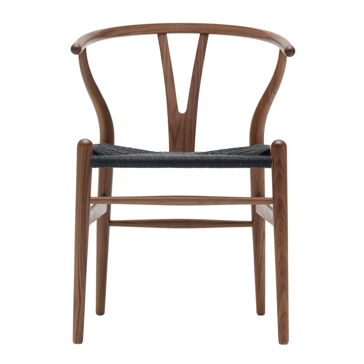 Carl Hansen Wishbone Chair Walnoot Geolied - Zwart