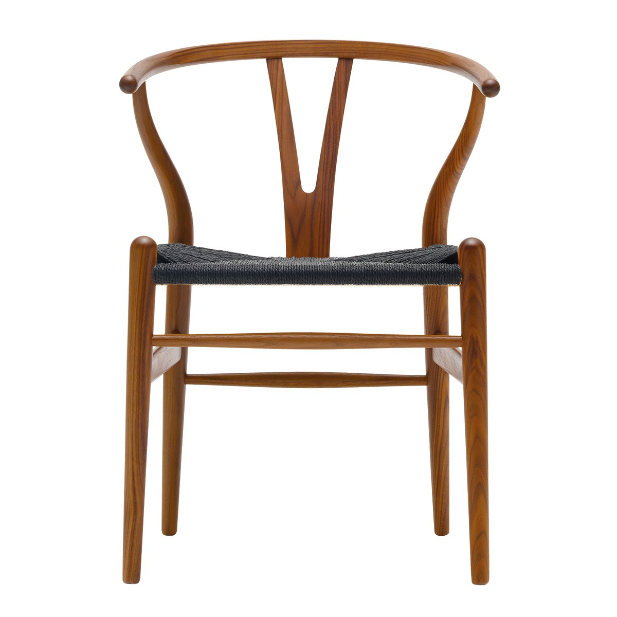 Carl Hansen Wishbone Chair Walnoot Gelakt - Zwart