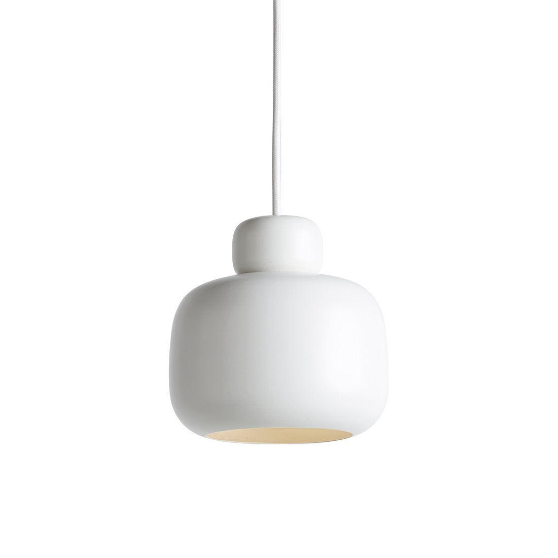 WOUD Stone Small Hanglamp Wit
