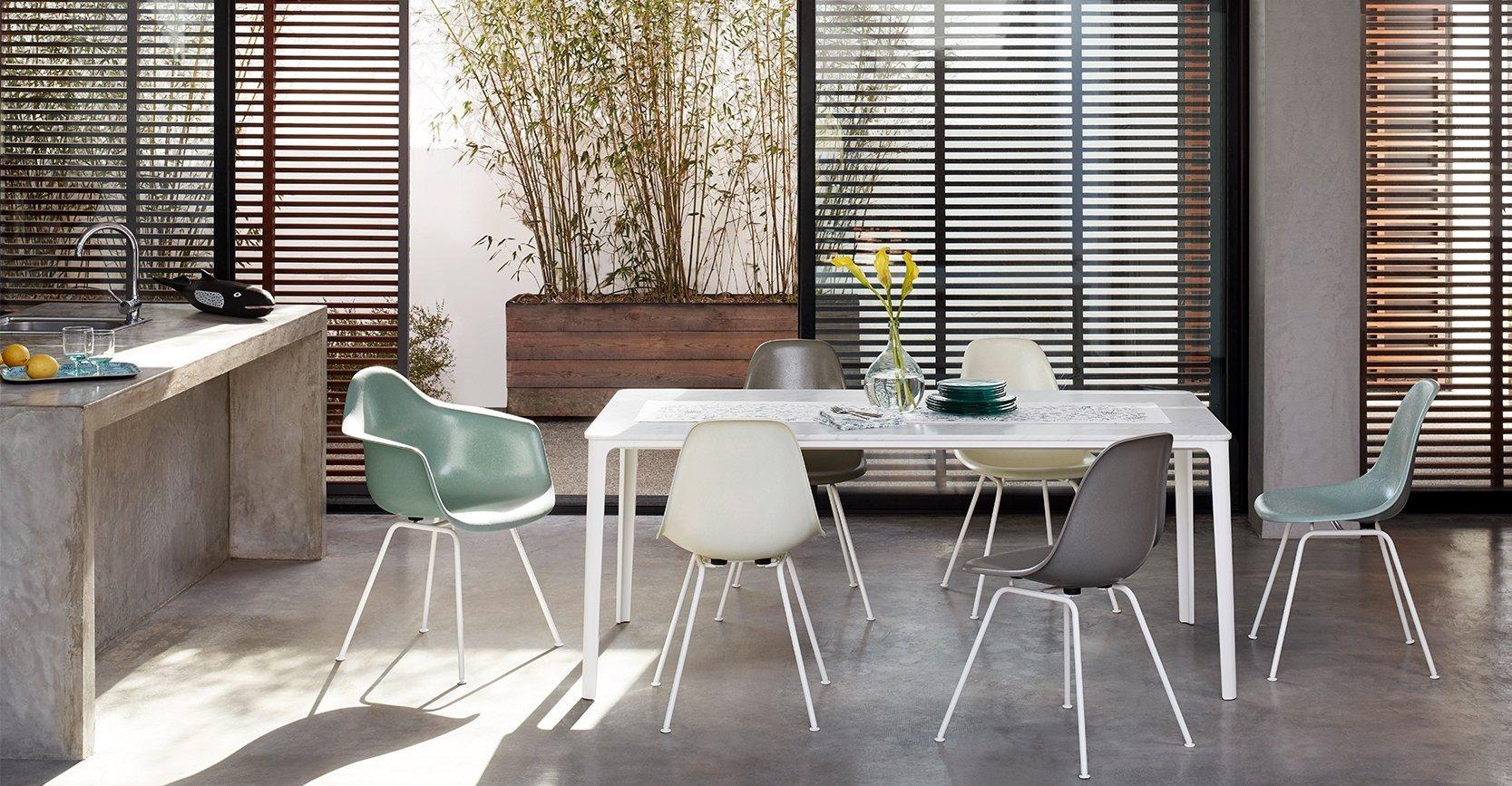 Vitra Eames Fiber en Plastic chairs